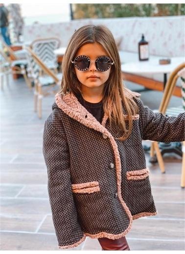 Hilal Akıncı Kids Kiz Çocuk Peluş Astarli Kaşe Mont Kahve